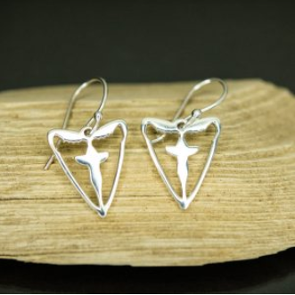 Sterling Silver Blessing Moth Earrings