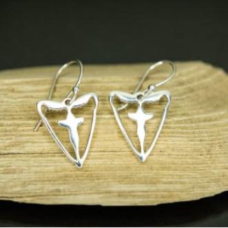 Sterling Silver Blessing Moth Earrings